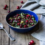 Roasted Cranberries with Greens