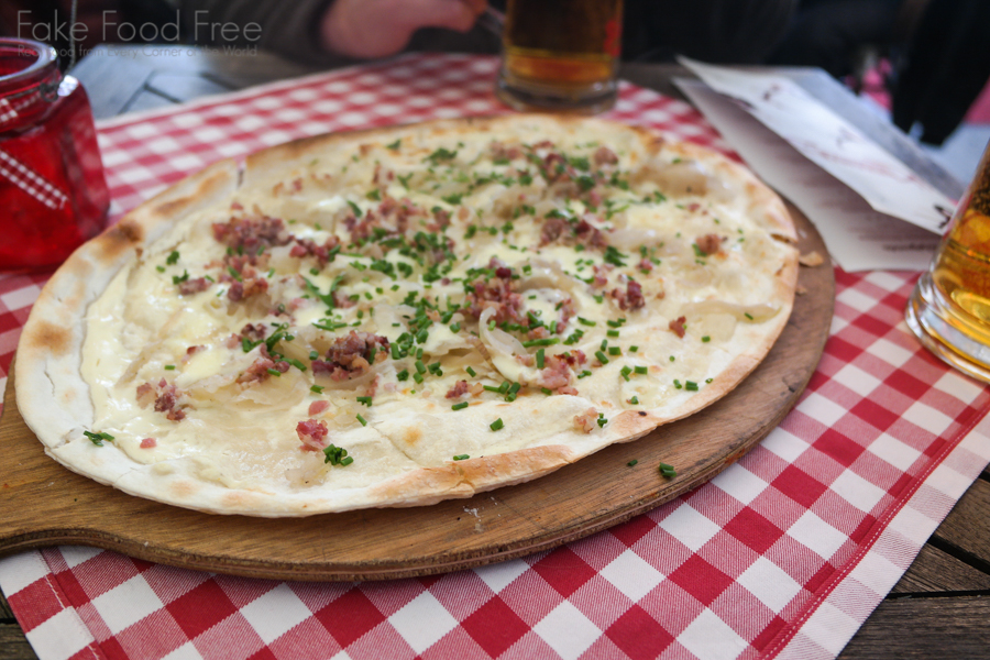 Flammkuchen | What to Eat and Drink at Berlin Christmas Markets | Fake Food Free Travels