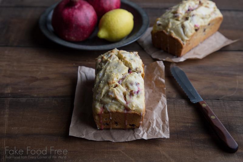 Pomegranate Lemon Cake Recipe | Fake Food Free