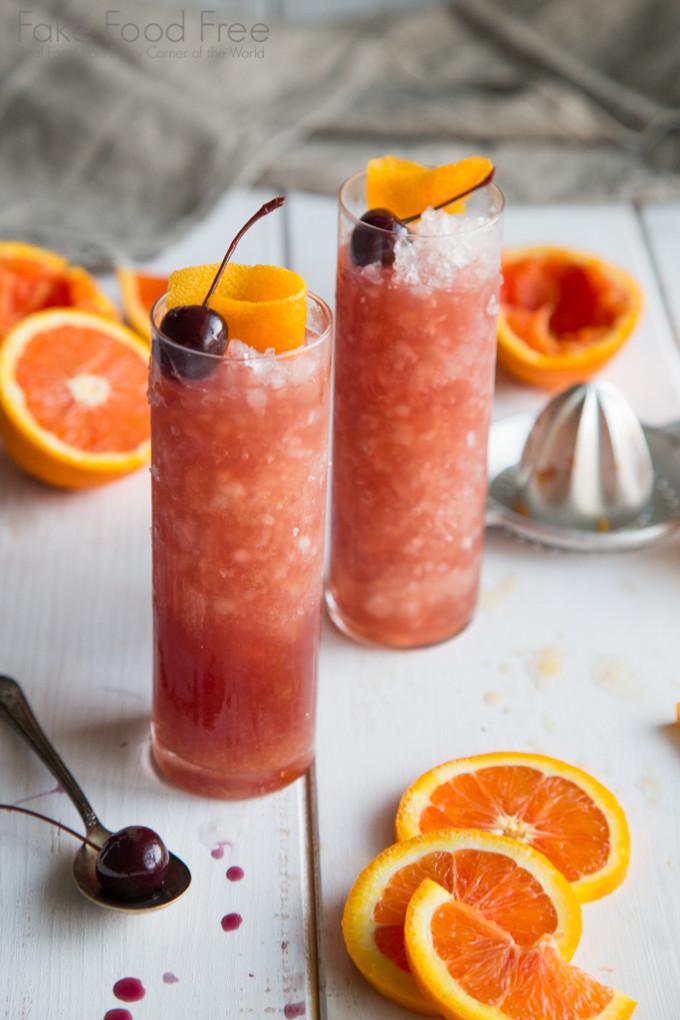 Cara Cara Orange Old Fashioned Cocktail Recipe | Fake Food Free
