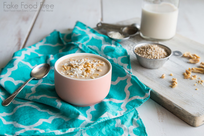 Overnight Oats with Maple, Peanut Butter and Coconut | Recipe | Fake Food Free