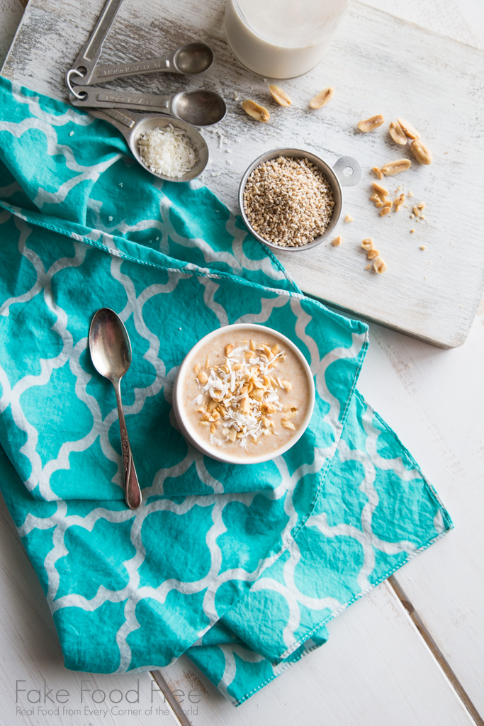 Easy overnight oats with maple syrup and peanut butter. | Recipe | Fake Food Free