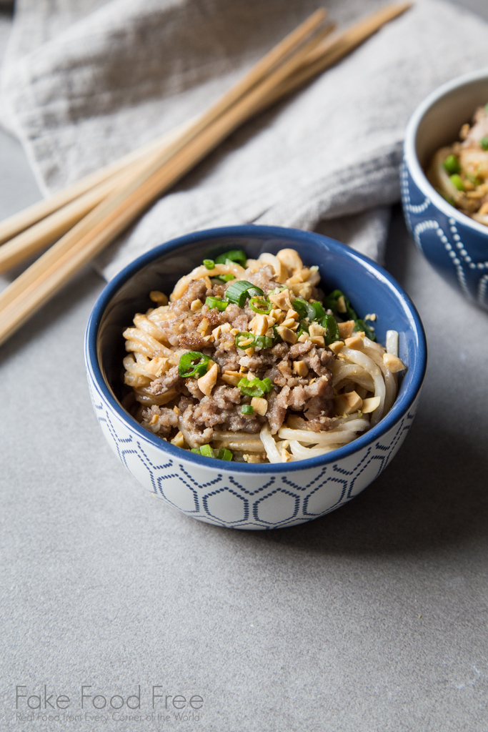 Dan Dan Noodles from Katie Chin's Everyday Chinese Cooking | Fake Food Free