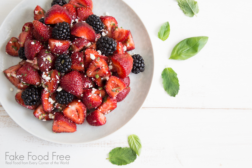 Summer Berry Salad | Fake Food Free