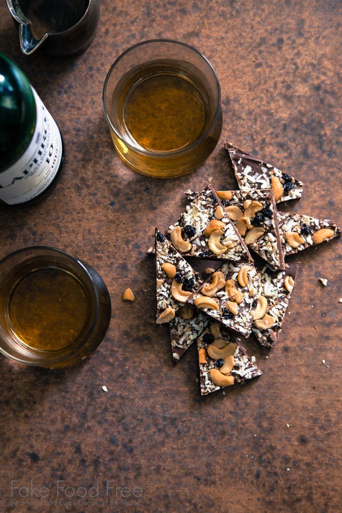 Dark Chocolate Cashew Bark Recipe