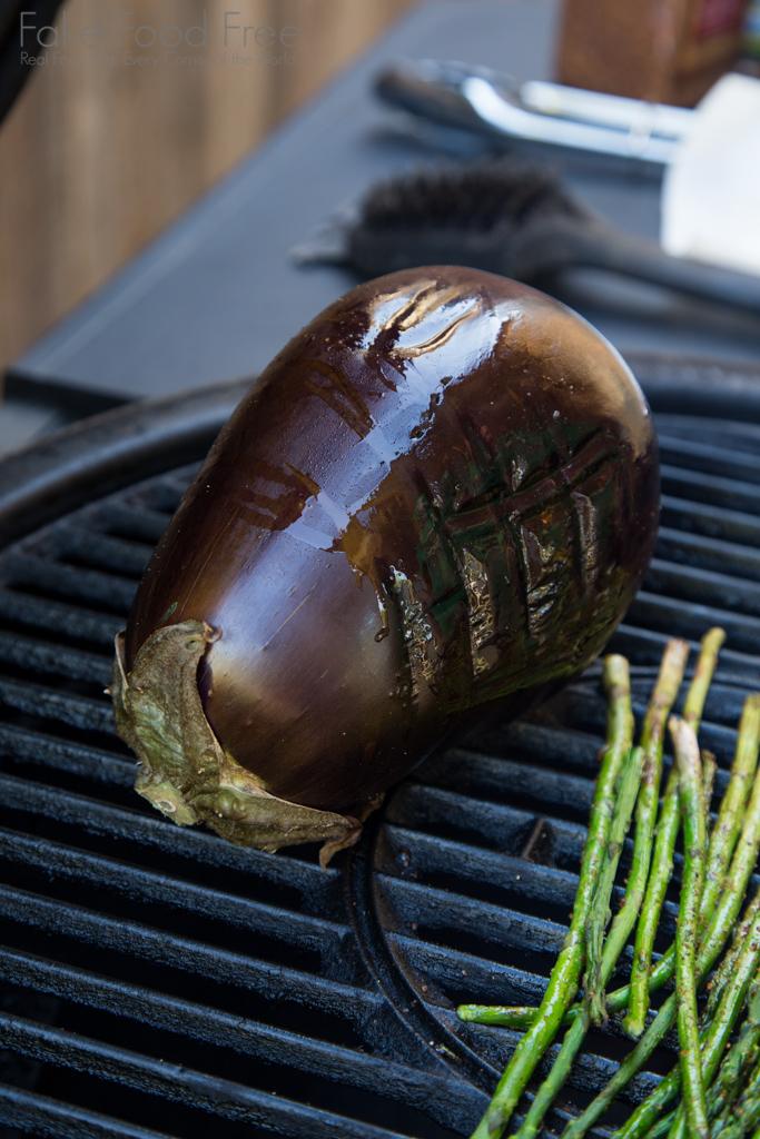 Grilled Eggplant for Baba Ganoush Recipe | Fake Food Free