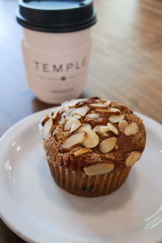 Vegan Raspberry Muffin at Temple Coffee Roasters, Sacramento   Food and Drink Travel   Fake Food Free