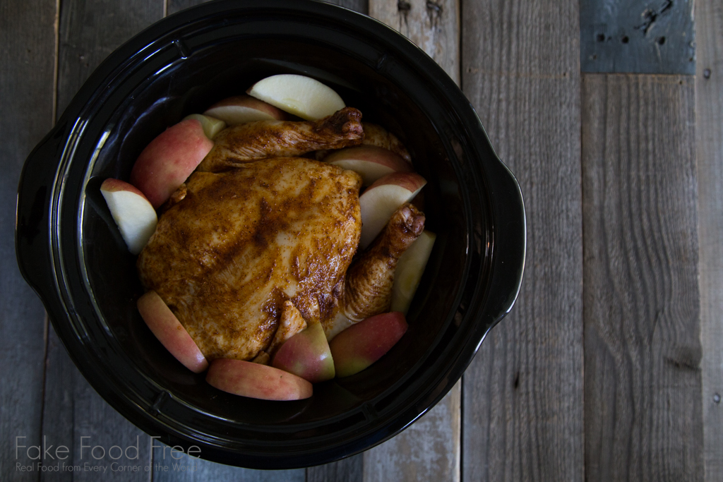 Autumn Spiced Slow Cooker Chicken with Apples and Onions Recipe | Fake ...