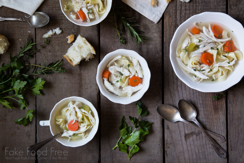 Chicken Herb Soup with Bone Broth Recipe | Sponsored Post