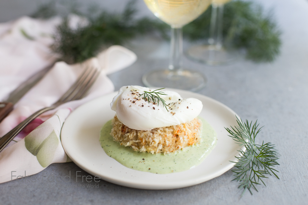 Crab Cakes Benedict recipe paired with Cultivar Wine Chardonnay (sponsored post)