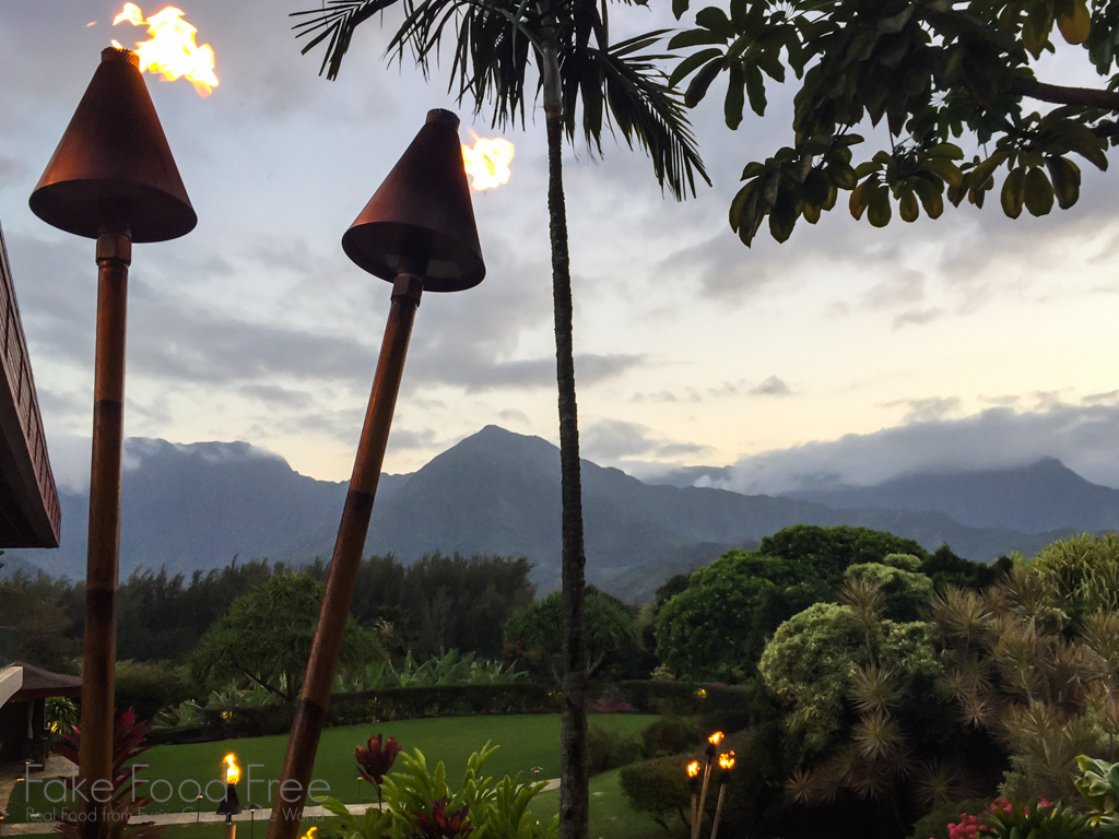 The view from Happy Talk Lounge in Princeville | What to Eat in Kauai | Fake Food Free Travels