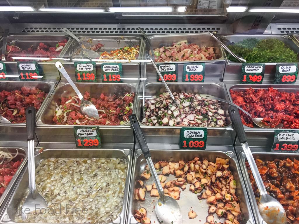 Poke at Ishihara Market Waimea   What to Eat in Kauai   Fake Food Free Travels