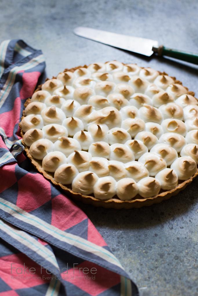 Pineapple Tart with Italian Meringue Dessert Recipe