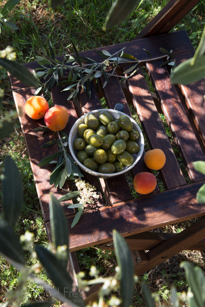 Olives and Apricots | Photography in Italy | FakeFoodFree.com
