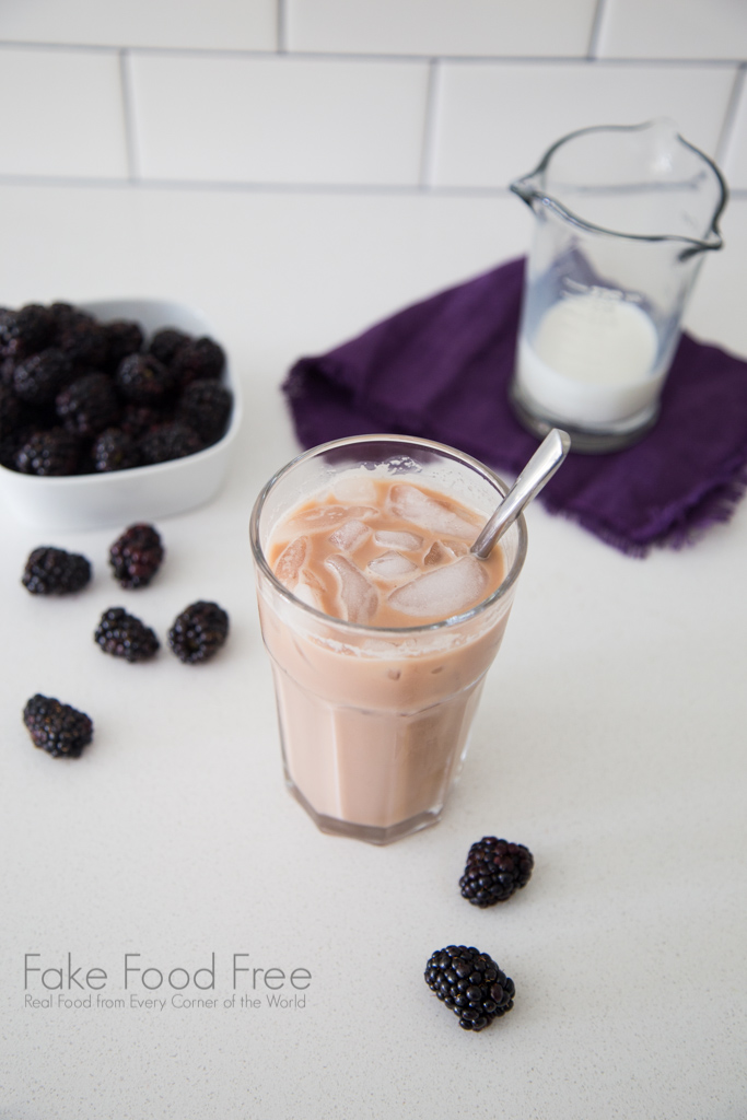 Iced Blackberry Latte Recipe | Fake Food Free
