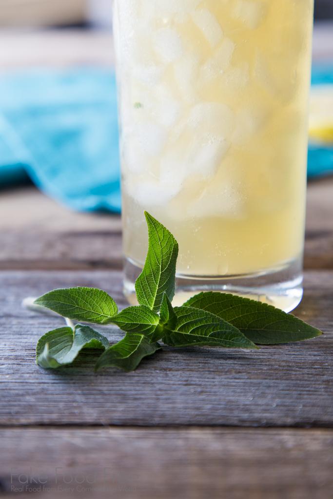 Pineapple sage for a bourbon lemonade cocktail recipe.