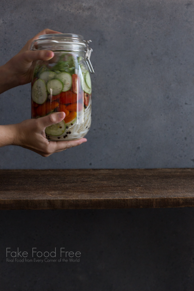 Quick Pickled Summer Salad Recipe in a Jar