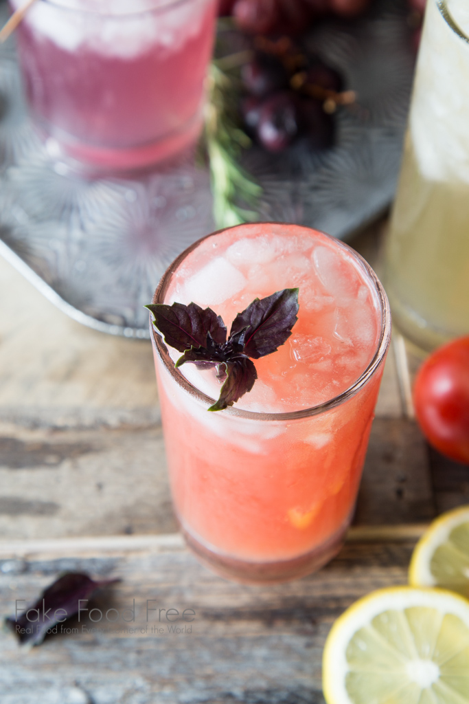 Tomato Purple Basil Vodka Cooler