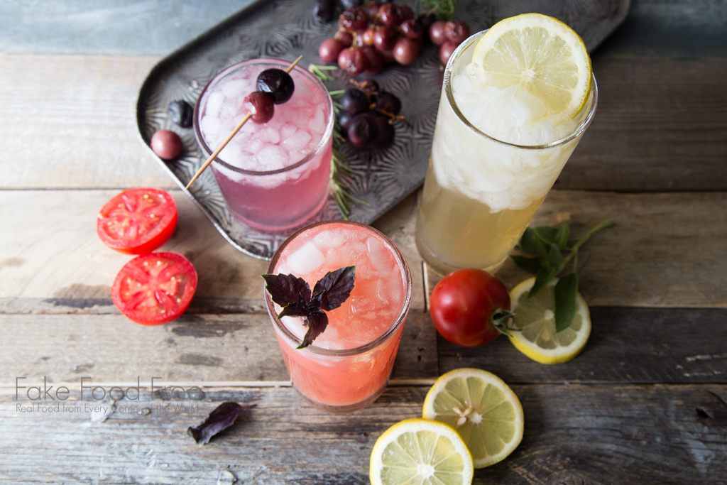 Create summer drinks with your herb garden. Garden Cocktail Week on FakeFoodFree.com