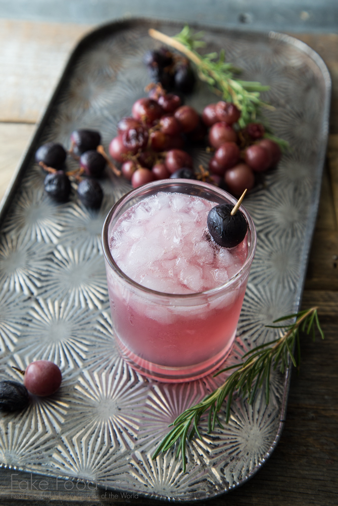 Roasted Grape and Rosemary Cocktail Recipe | FakeFoodFree.com