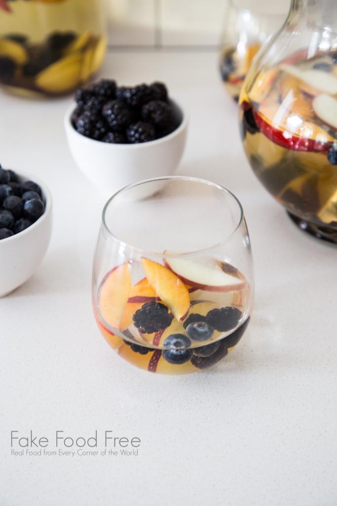 White Summer Sangria Recipe | FakeFoodFree.com