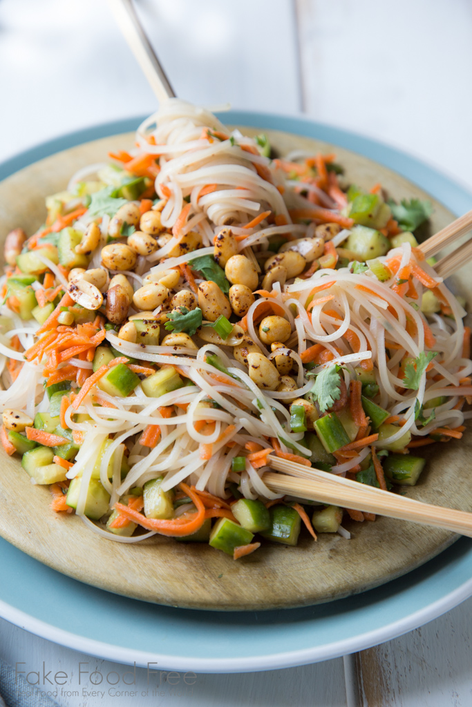 Easy Asian Chilled Noodle Salad | Tested Recipe at FakeFoodFree.com