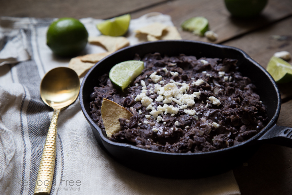 Refried Black Beans Recipe | FakeFoodFree.com