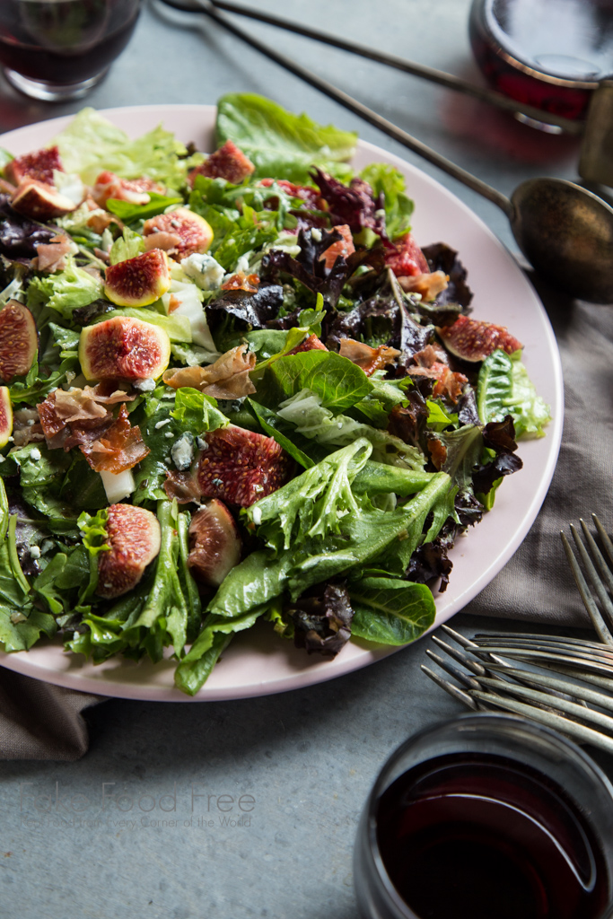 Crispy Prosciutto Fig Salad with Lemon, Chive and Honey Dressing Recipe