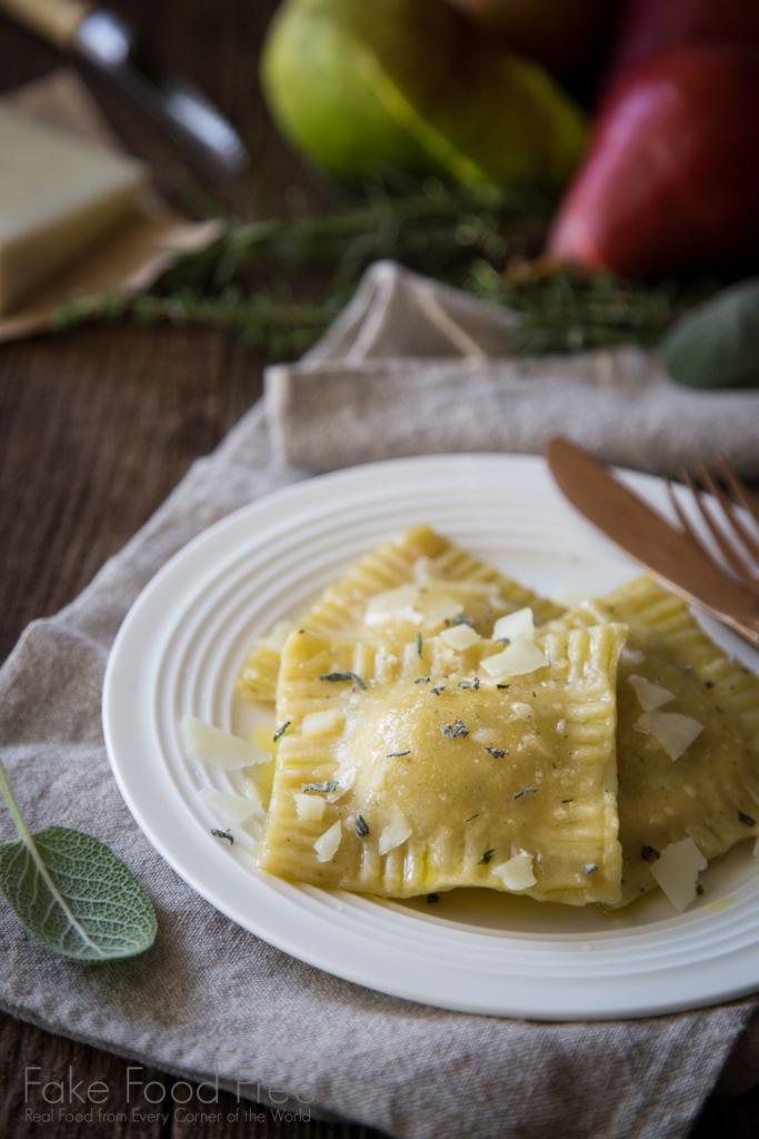 Roasted Garlic, Pear and Pork Ravioli Recipe   Sponsored Post   FakeFoodFree.com
