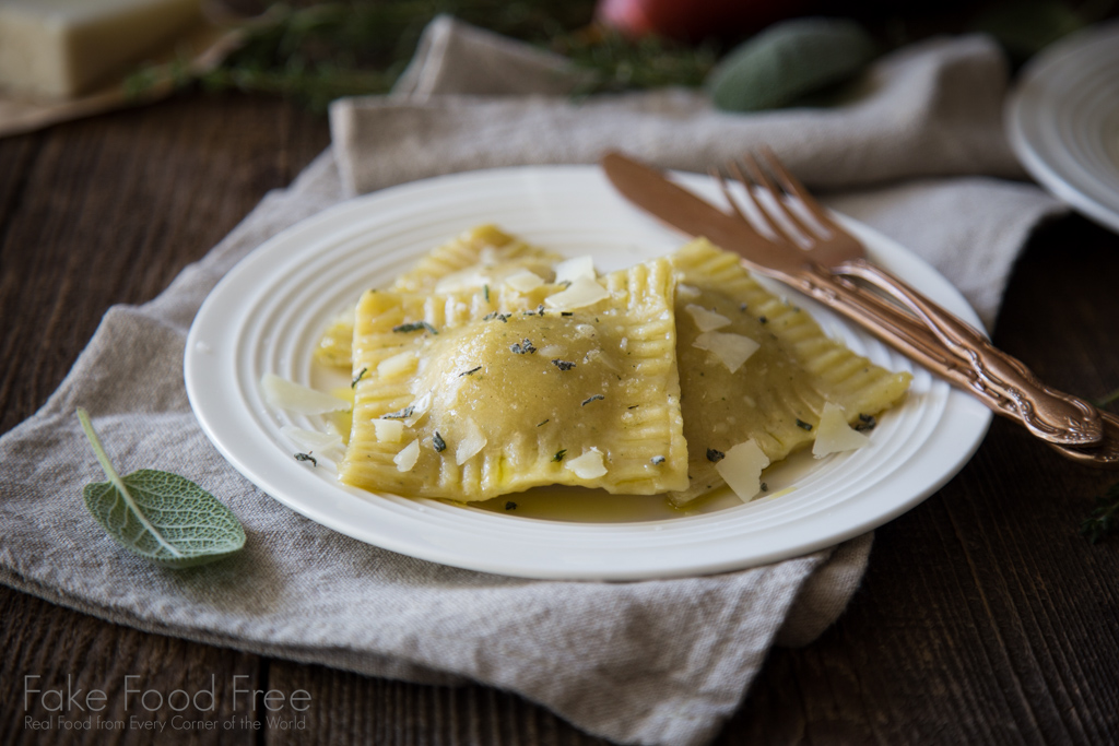 Hearty Ravioli Stuffed with Ground Pork and Pears | Sponsored Post | Recipe at FakeFoodFree.com