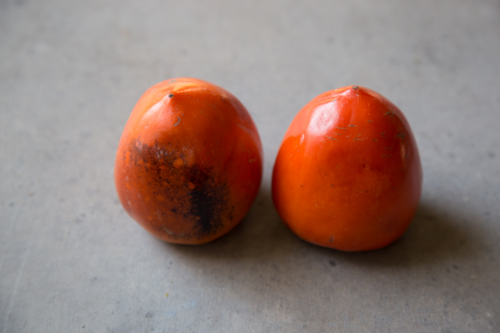 Tips for eating Hachiya persimmons.