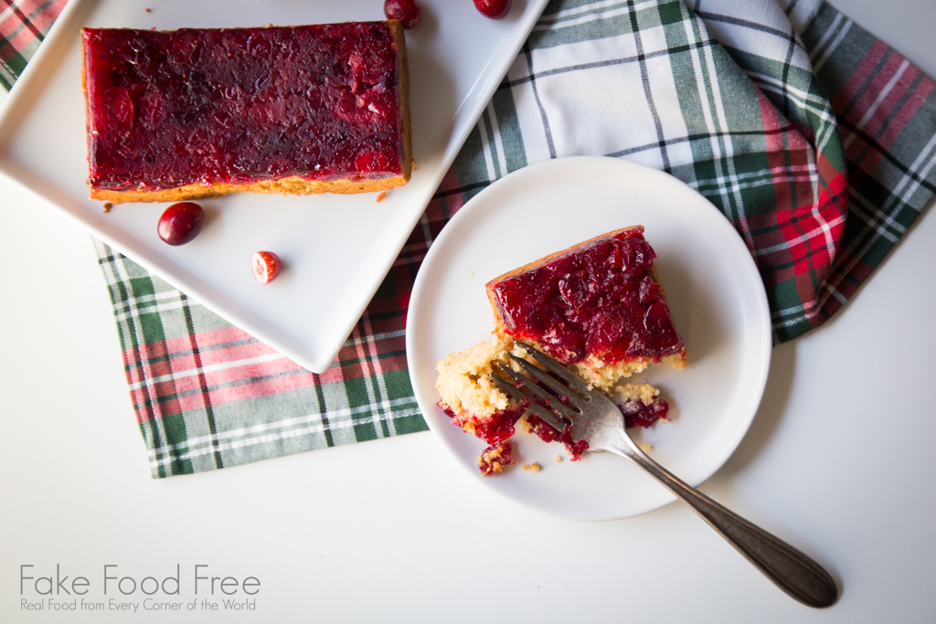 Cranberry Upside Down Cake for the holidays!